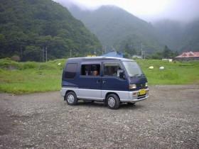 精進湖・車中泊でキャンプ!