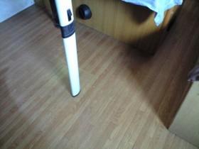 キャブコンの床掃除
