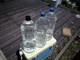 清水タンク・水補給