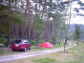 御座松キャンプ場・P泊